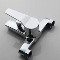 Factory direct wholesale copper IELTS triple bathtub mixing valve faucet cold hot water warm bathroo