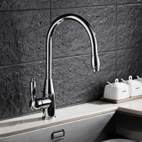 Kitchen Draw Faucet Cold and Hot Brass Household Rotary Washing Pot Faucet Red-crowned Crane Faucet