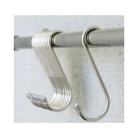 Coarsening and enlarging stainless steel S-shaped bi-directional hook multi-purpose portable tracele
