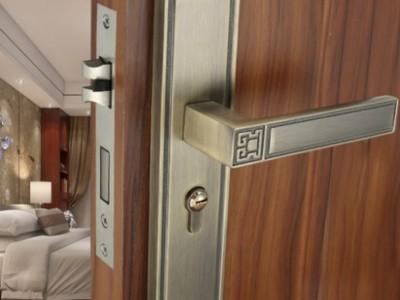 Chinese door lock bedroom solid wood door lock household mute indoor door lock handle universal type