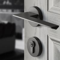 Yagu Nordic Wind Door Lock Indoor Bedroom Silent Magnetic Attraction Postmodern Simple Solid Wood Do